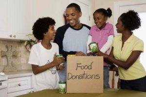 Donate food family